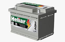 Bateria Heliar AGM - Tem maior durabilidade e performance para carros que necessitam de muito mais partidas todos os dias
