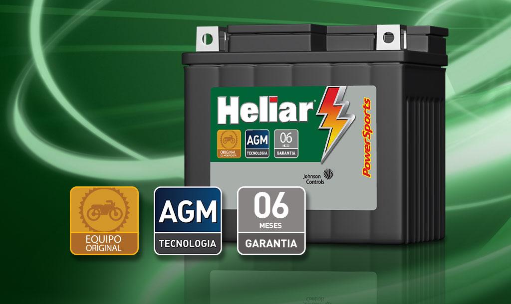 Línea automotiva Baterías Heliar la mejor batería para su motocicleta.