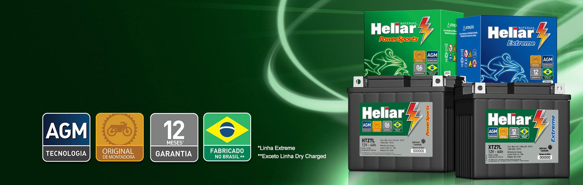 Linha automotiva Baterias Heliar a melhor bateria para seu carro.