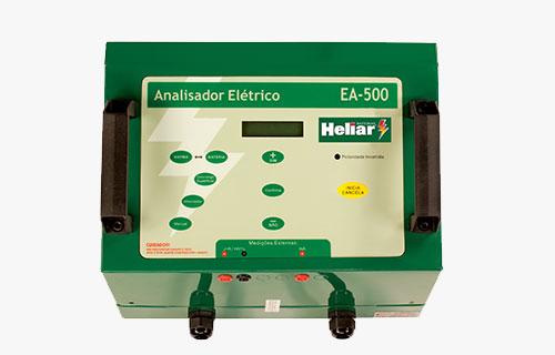 Analisador automotivo EA500 Baterias Heliar, testa baterias 12V chumbo ácido automotivo.
