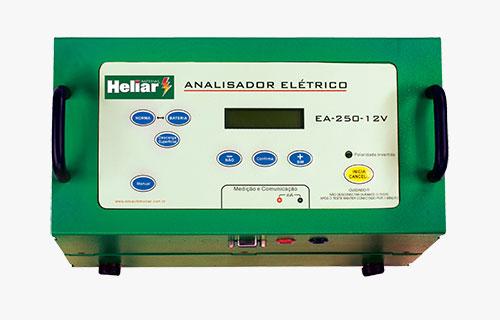 Analisador para moto Baterias Heliar, testa baterias 12V AGM, de moto e similares, com até 250 A de CCA.