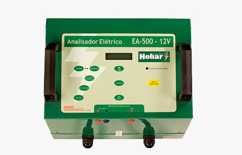 Analisador automotivo EA500 Baterias Heliar, testa baterias 12V AGM, de automotivo e similares, com até 350 A de CCA.