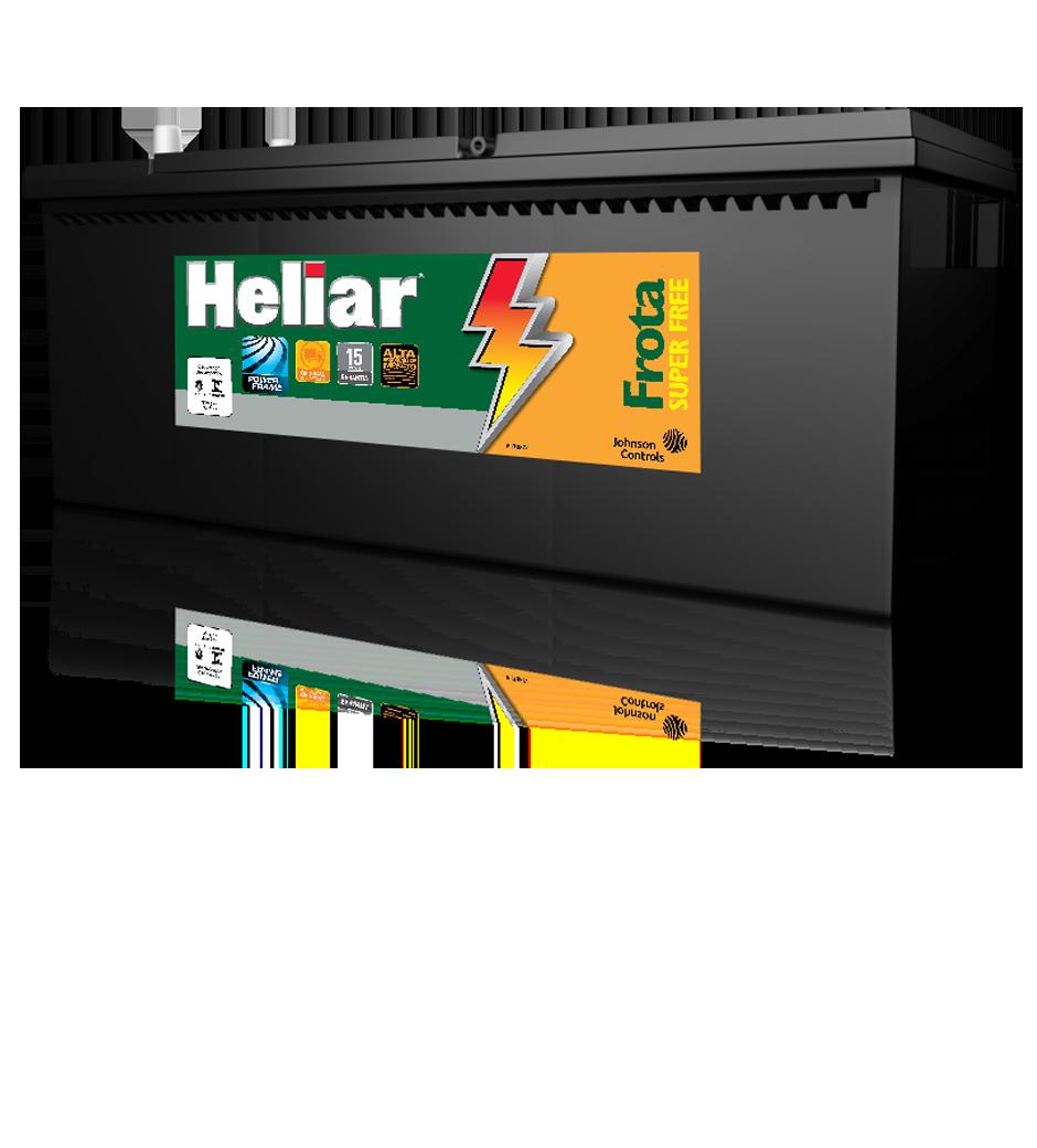 Baterias Heliar Frota Super Free, quando o negócio é carga pesada, esta é a sua bateria.