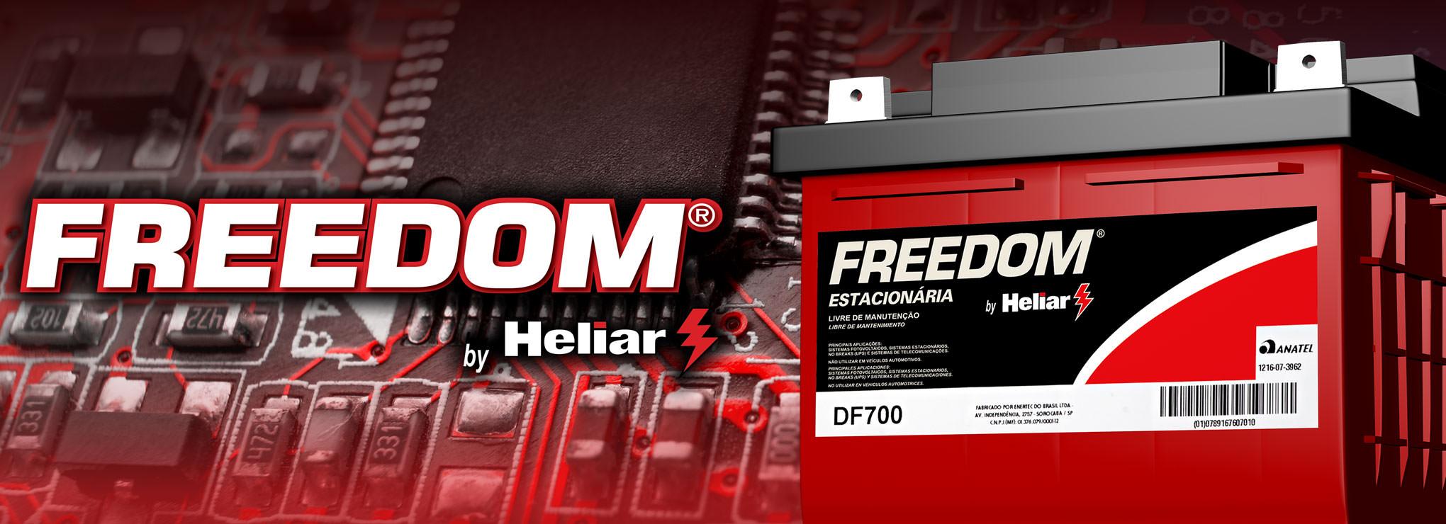 Bateria Estacionária Freedom by Heliar, a melhor do Brasil.